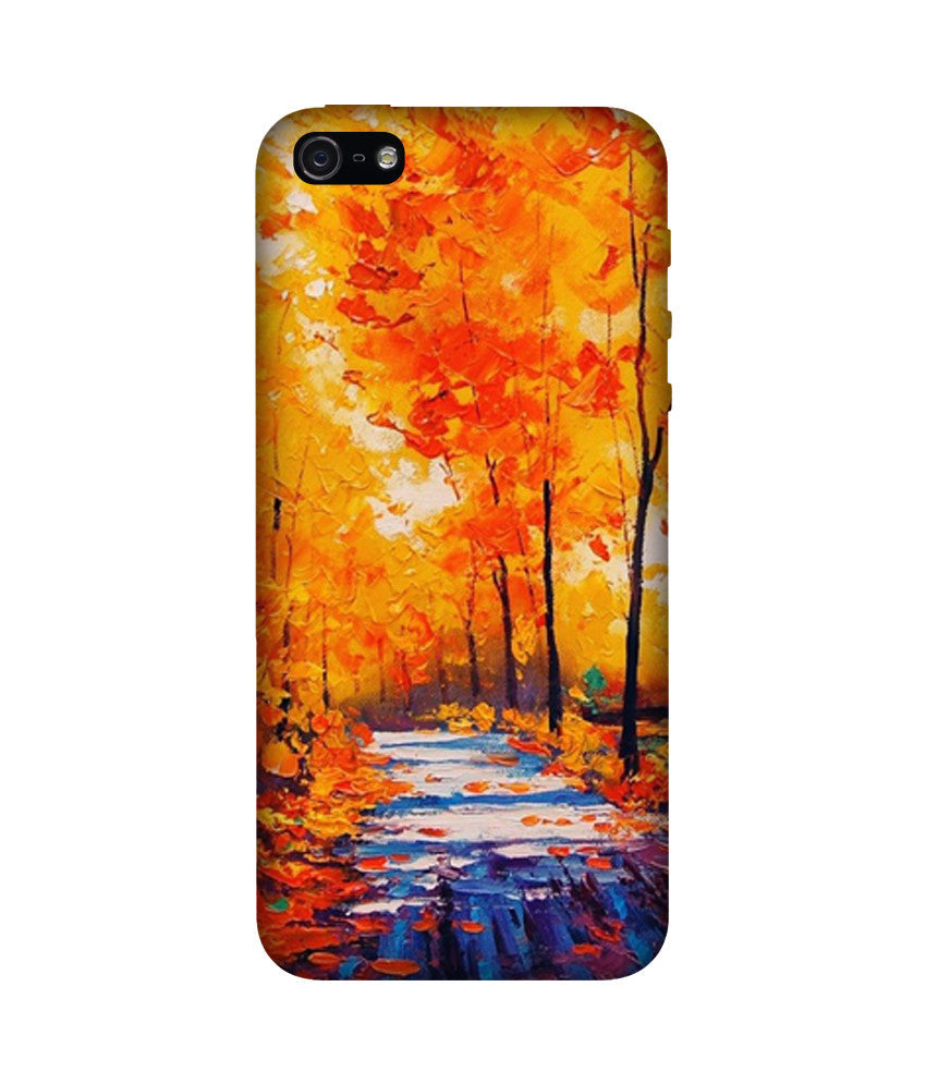 Creatives 3D Fall Leaves Iphone Case