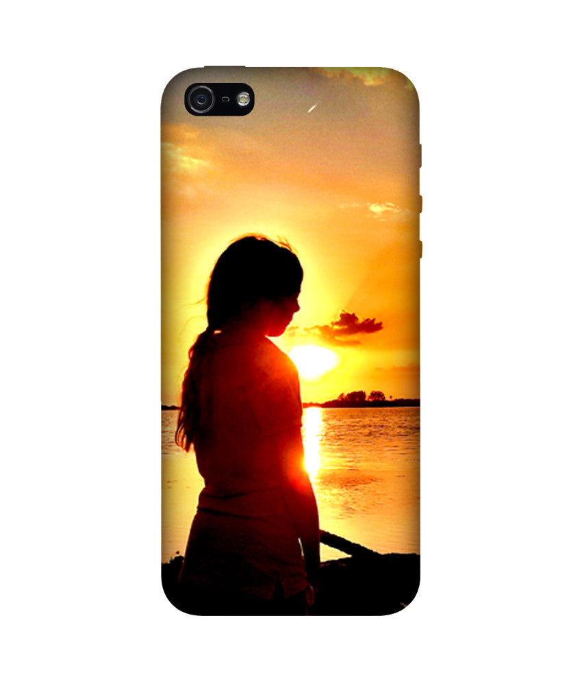 Creatives 3D Lonely Girl Iphone Case