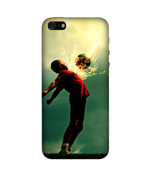 Creatives 3D Athlete kicking soccer Iphone Case