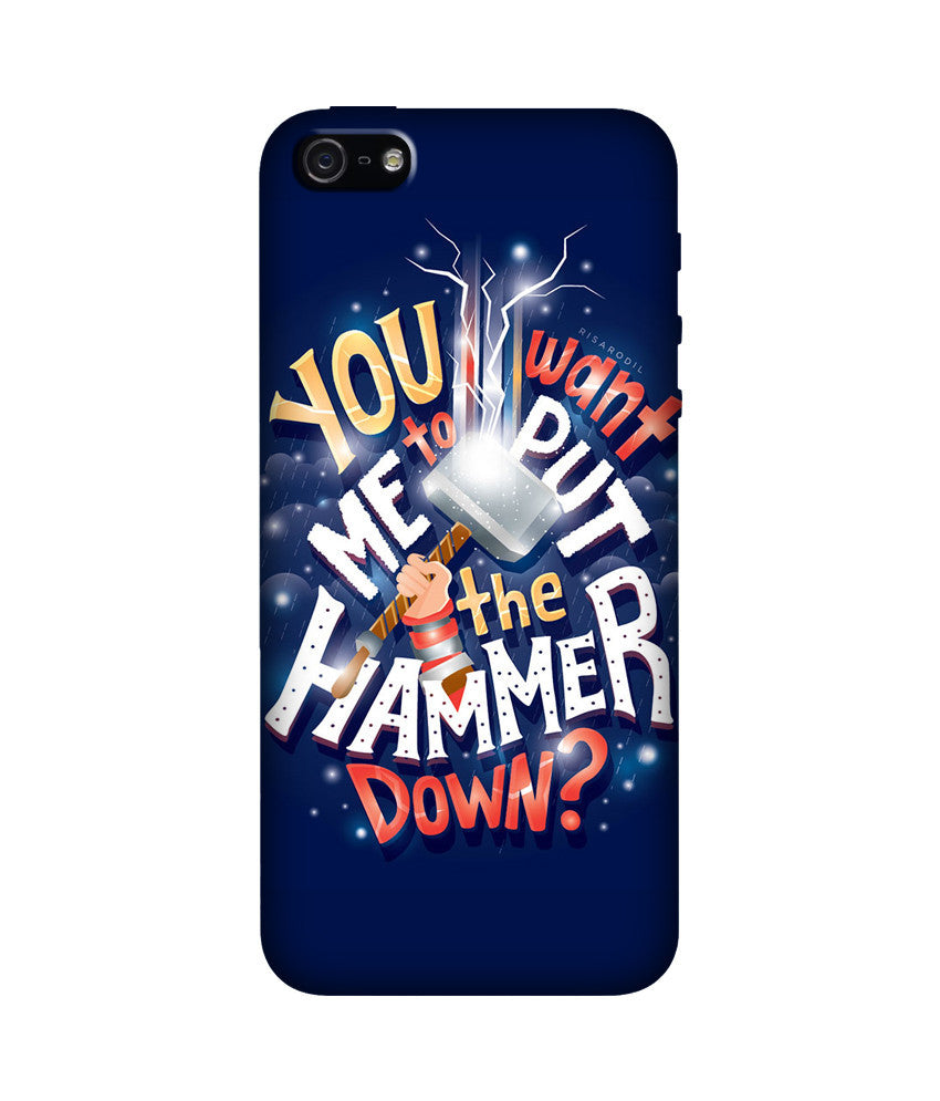 Creatives 3D Hammer Down Iphone Case