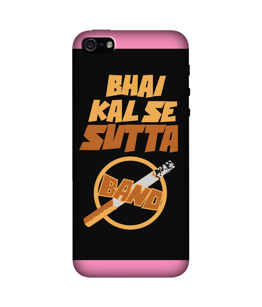 Creatives 3D Bhai Kal Se Sutta Band Iphone Case