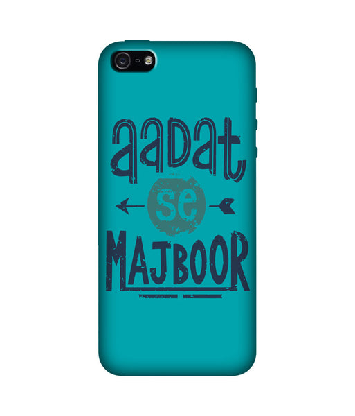 Creatives 3D Aadat se Majboor Iphone Case
