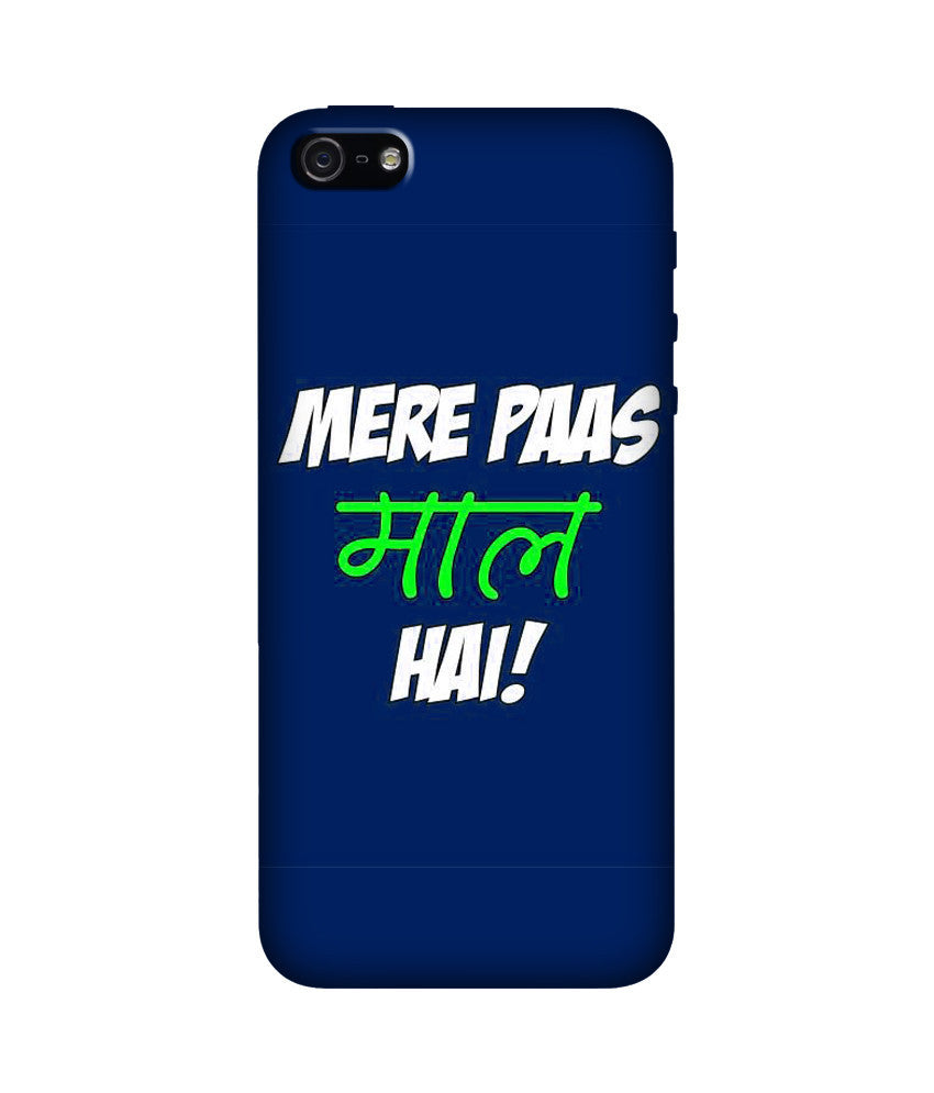 Creatives 3D Mere Paas Maal Hai Iphone Case