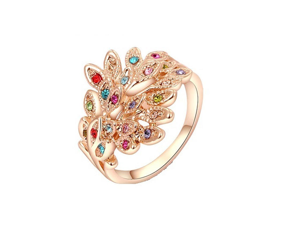 Rose Gold Plated Austrian Crystals Ring