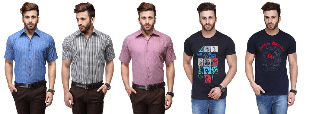 Koolpals Attractive Pack of 5 Cotton Shirts & T-shirts
