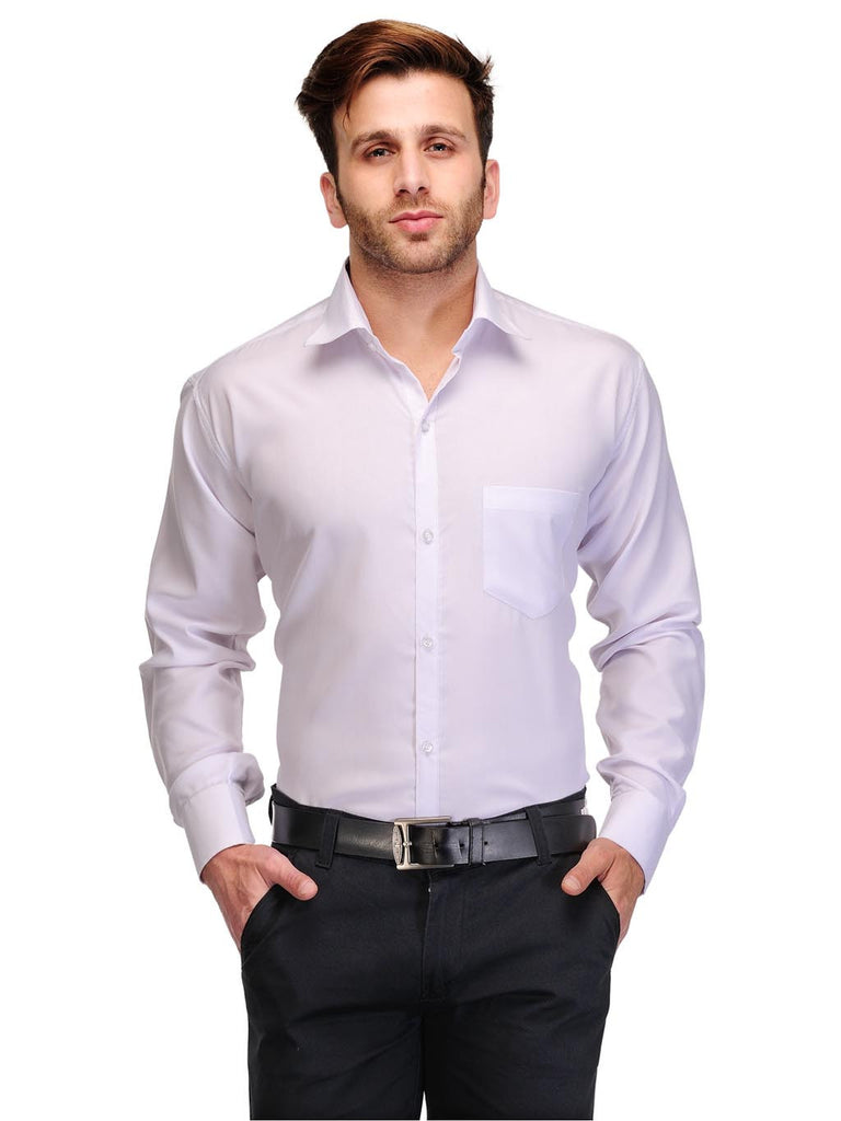 Koolpals Cotton Blend Solid White Shirt Formal Shirt