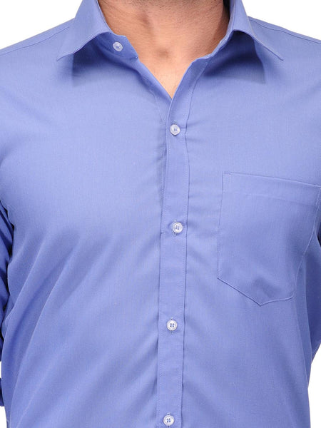 Koolpals Cotton Blend Office Blue Formal Shirt