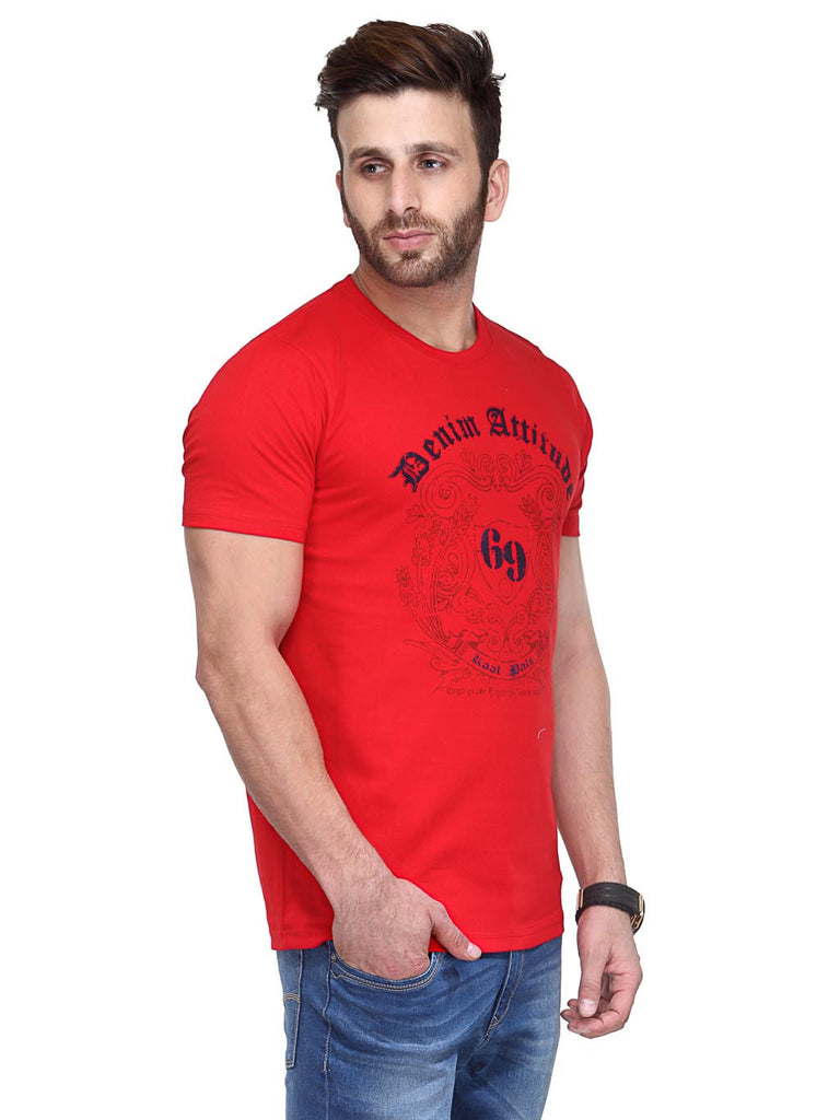 Koolpals Attractive Red Printed Cotton T-Shirts