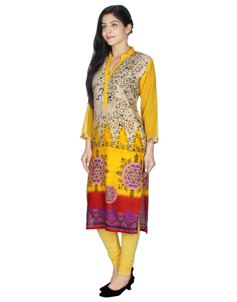 E Smart Deals Yellow Colored Kurti