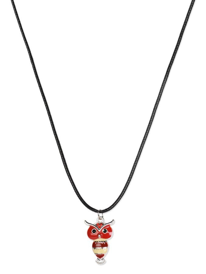 Lucky Owl Silver Necklace