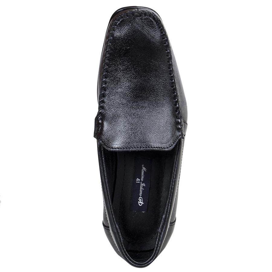 Massimo Italiano Trendy Black Formal Shoes