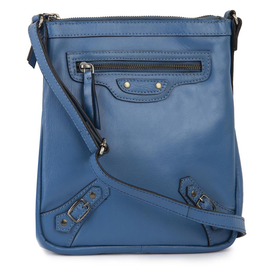 Airovit Leather Blue Sling Bag
