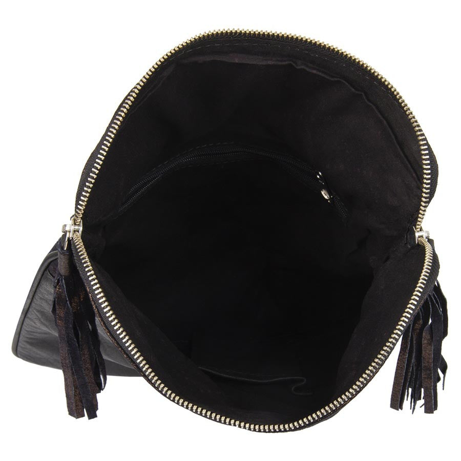 Massimo Italiano Women Black Leather Sling Bag