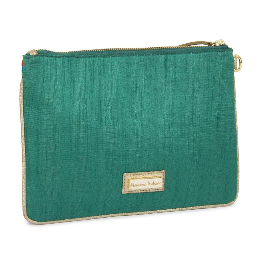 Massimo Italiano Green Clutch