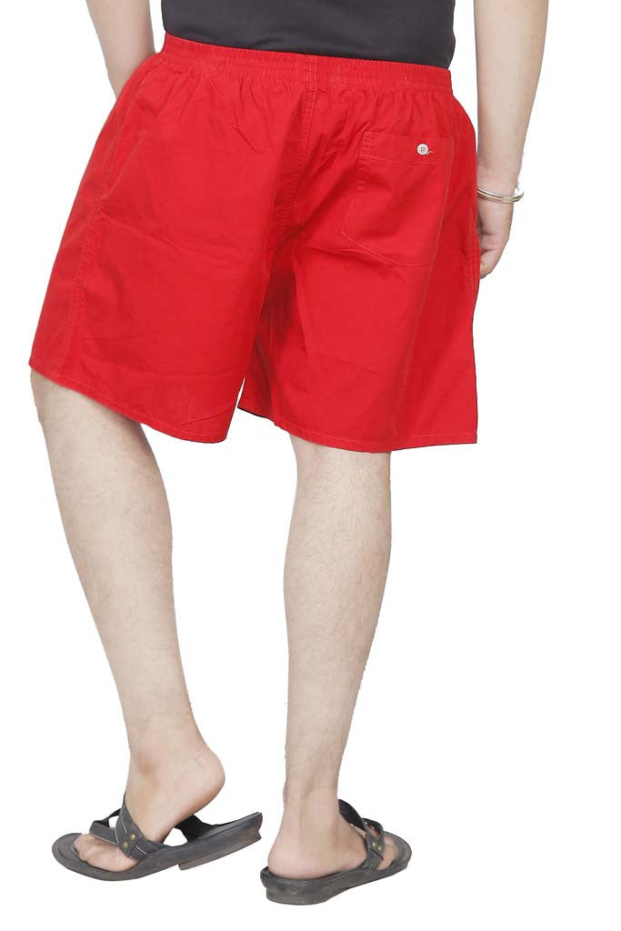BURBN Bright Red Printed Men's Boxers