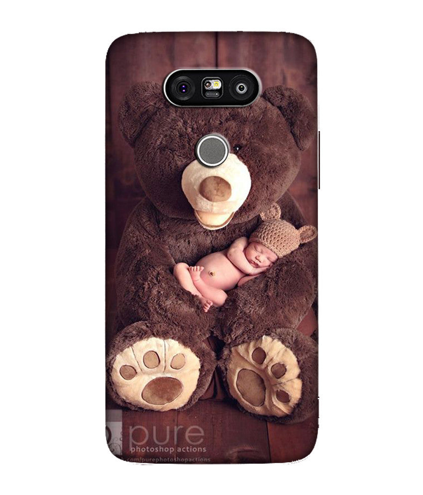 Creatives 3D Baby With Brown Teddy LG Case