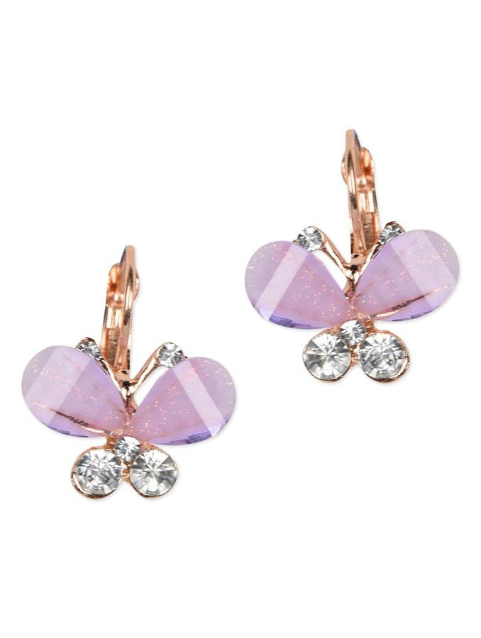 Cute Purple Bow Butterfly Earring