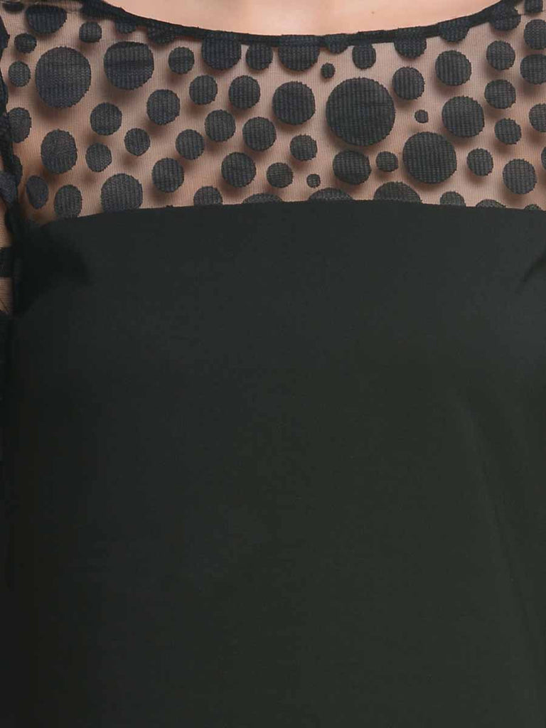 Ruhaan's Black Color Full Sleeves Top