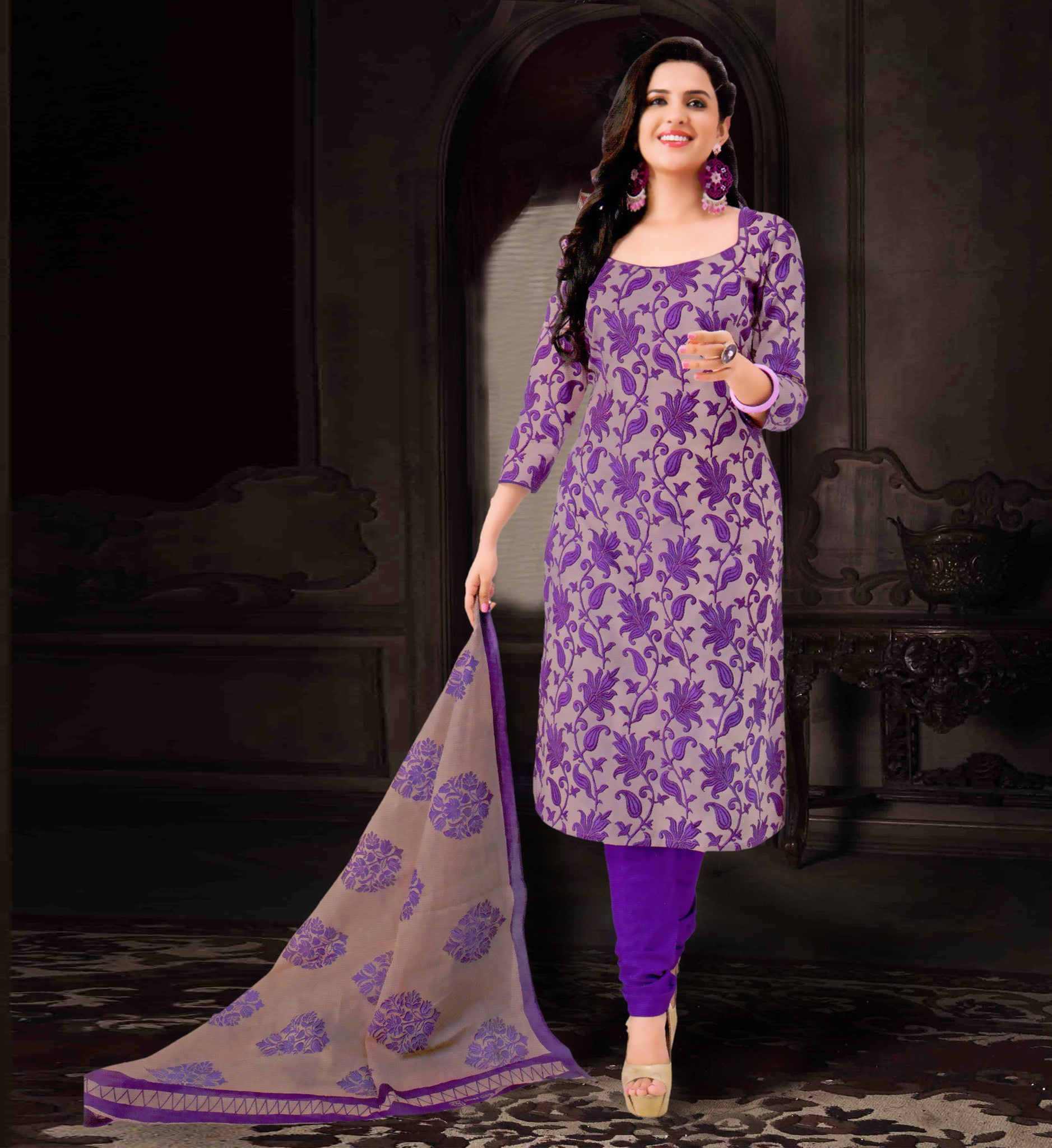 wama fashion com wama fashion purple colour dress material tz sultan