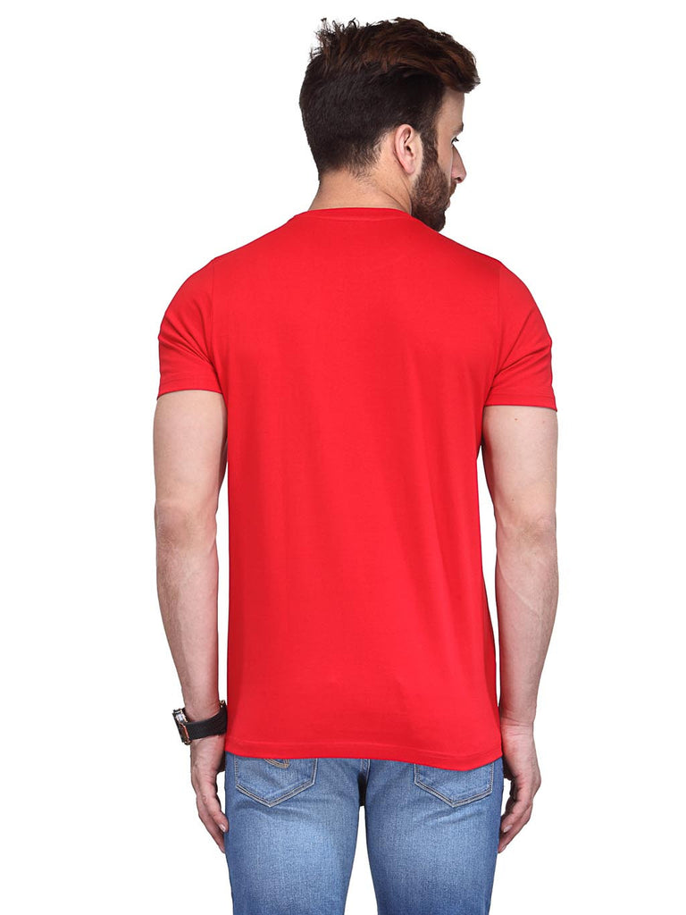 Koolpals Round Neck Success Red Printed Cotton T-Shirts