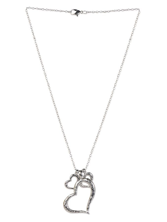 Three Heart Long Necklace