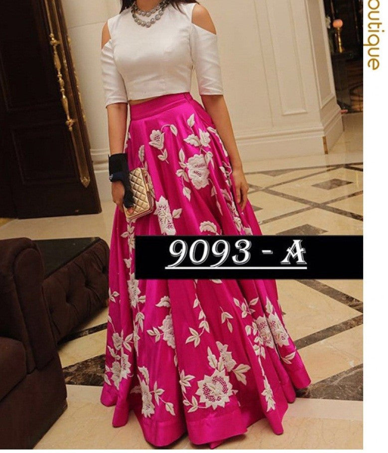 Axar fashion party wear  lehenga choli(AR_Aarohi_pink)