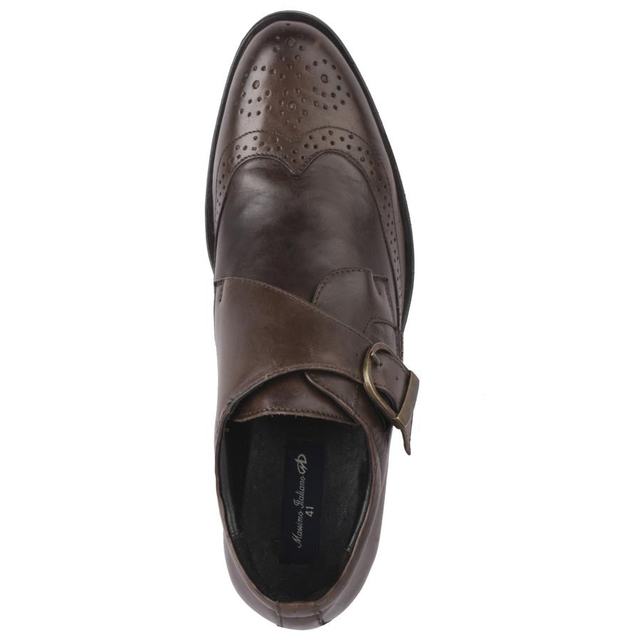 Massimo Italiano Brown Leather Shoes