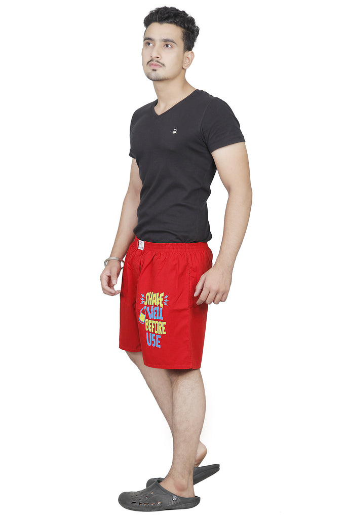 BURBN Red Printed Men's Boxers