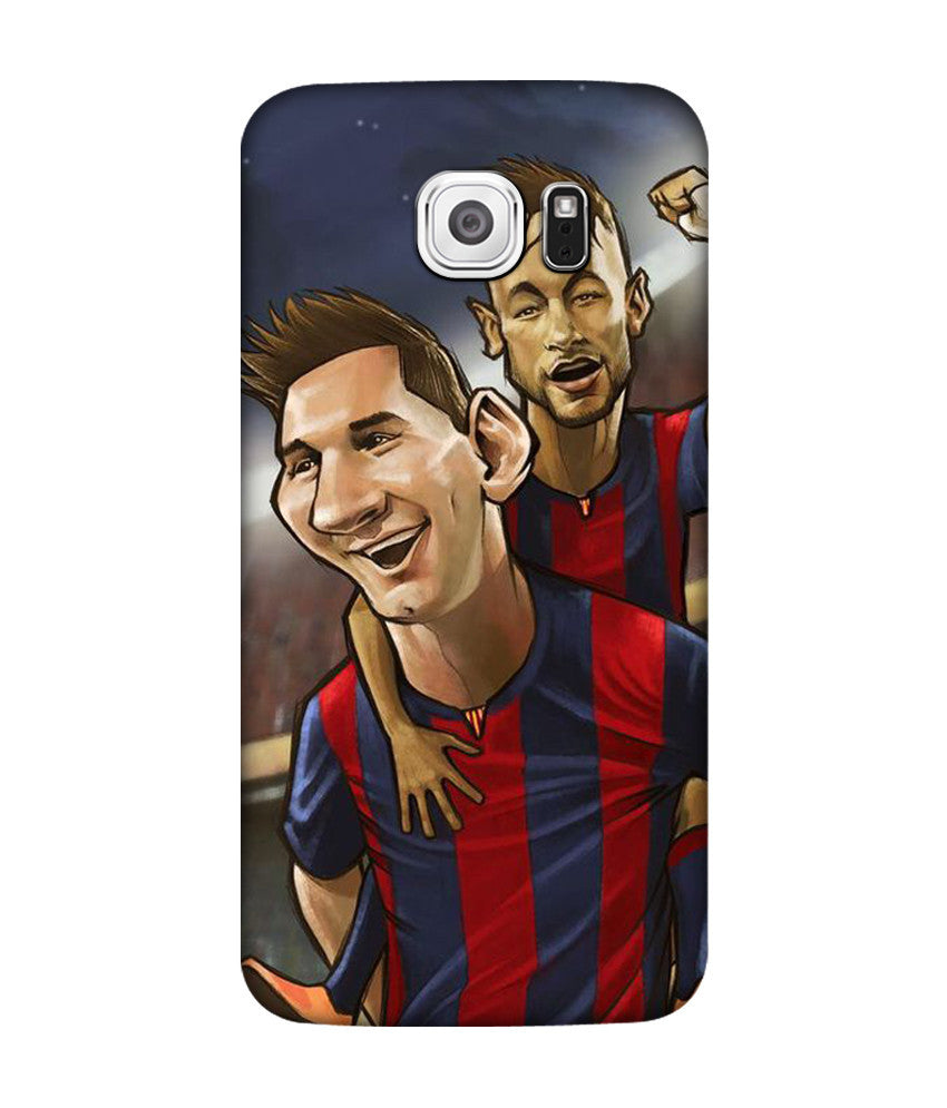 Creatives 3D messi neymar suarez drawing Samsung  Case