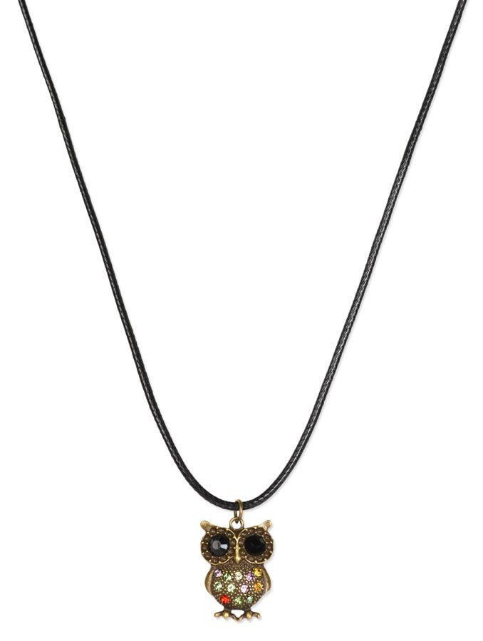 Stylish Copper Owl Necklace