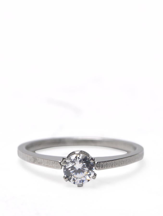 Wedding Stainless steel Cubic Zircon Ring