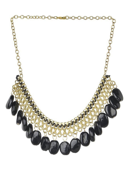 Antique Black Beaded Necklace