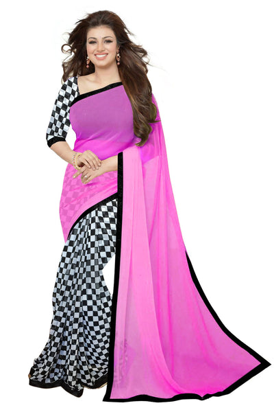 wama fashion latest designer pink colour saree(tz_aayesha_chess)
