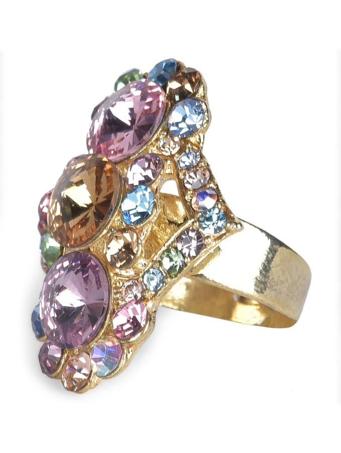 Stunning Hearts Gold Plated Ring
