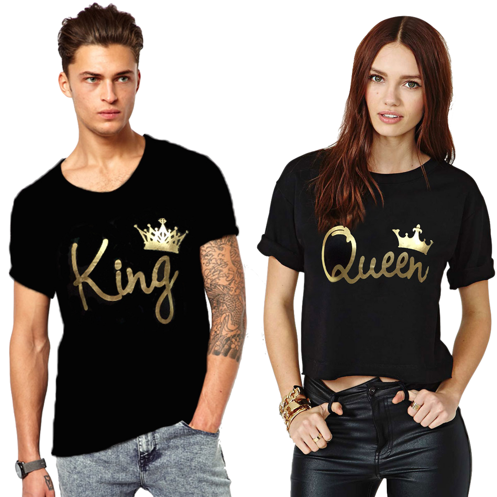 Awesome Tees King And Queen Couple T- Shirt