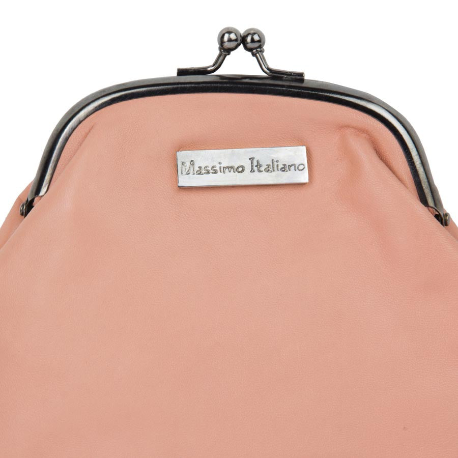 Massimo Italiano Women Pink Leather Clutch