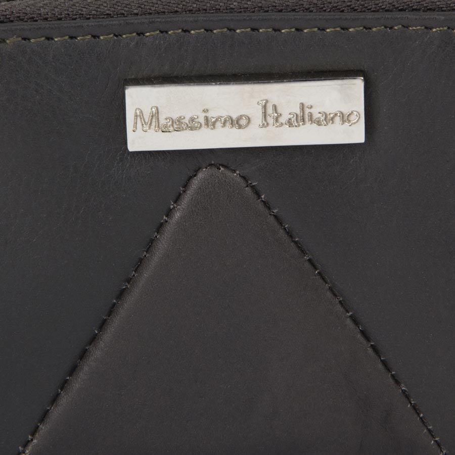 Massimo Italiano Women Grey Leather Clutch