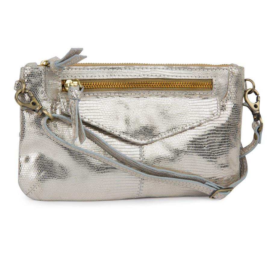 Airovit Women Leather Silver Sling Bags