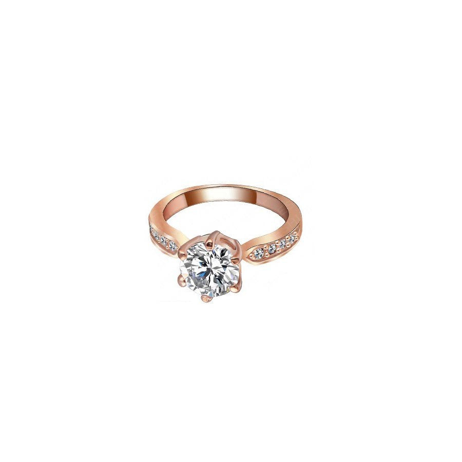 Princess Zircon Wedding Ring