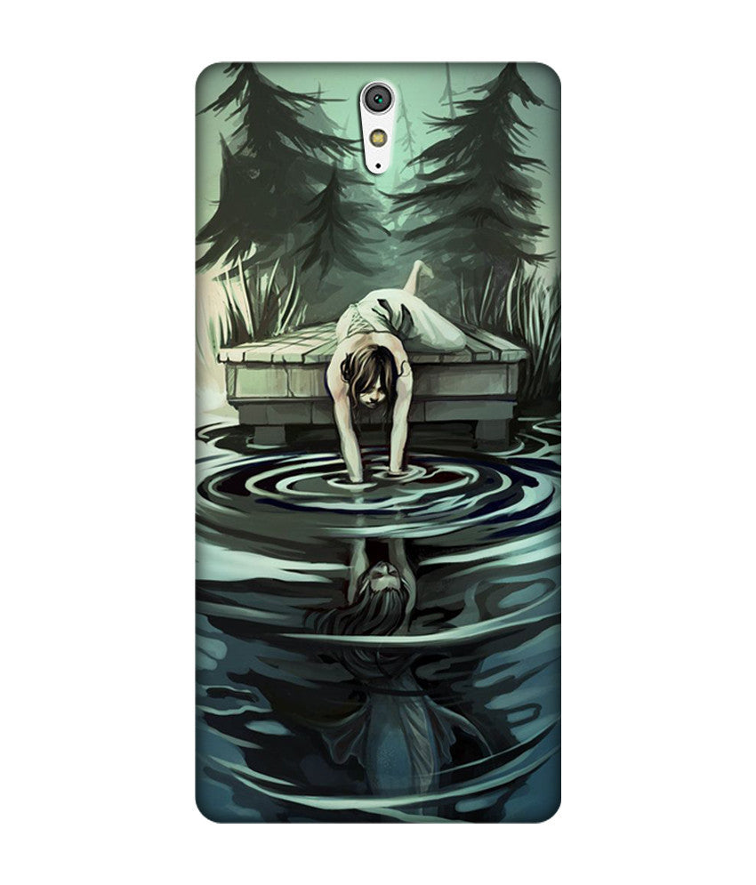 Creatives 3D Water Painting Sony Case