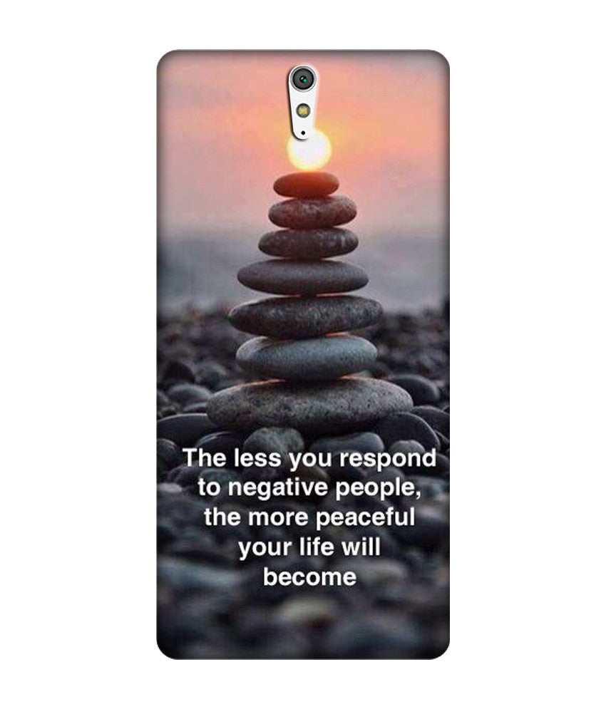 Creatives 3D Life Quotes Sony Case