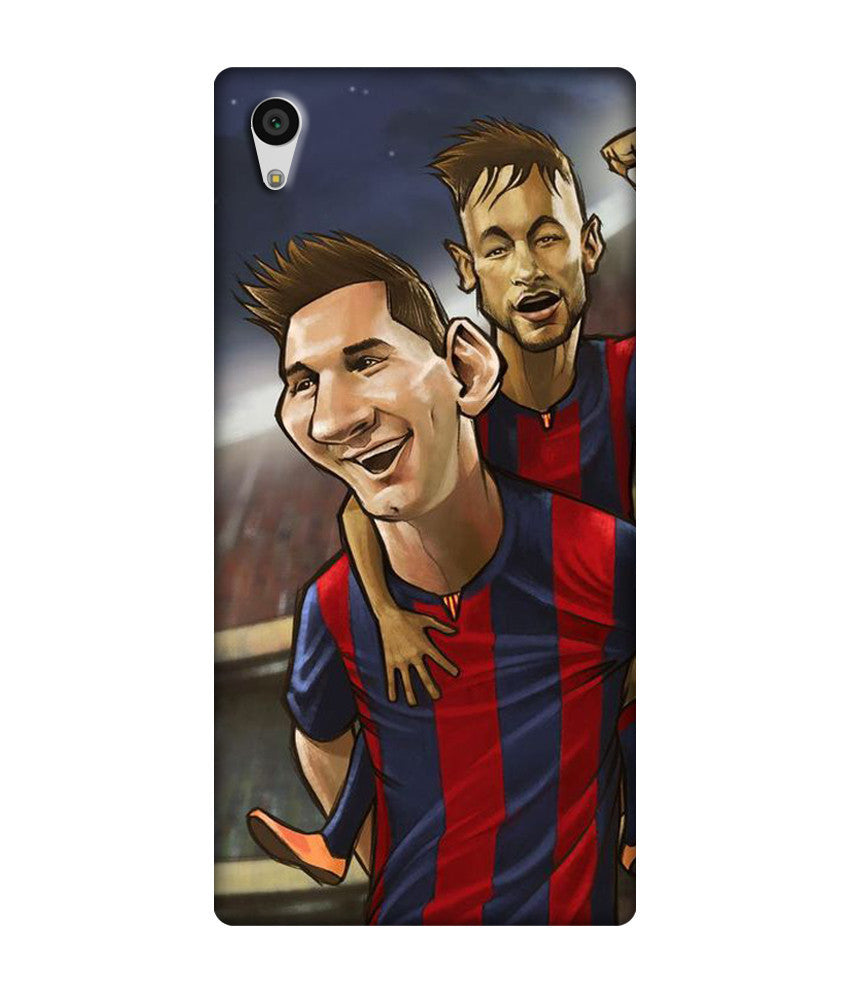 Creatives 3D Messi Neymar Suarez Drawing Sony Case