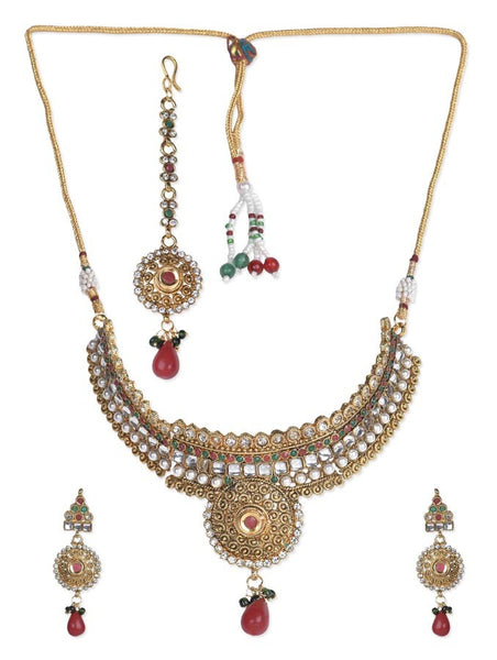 Celebrity Inspired Golden Necklace Set