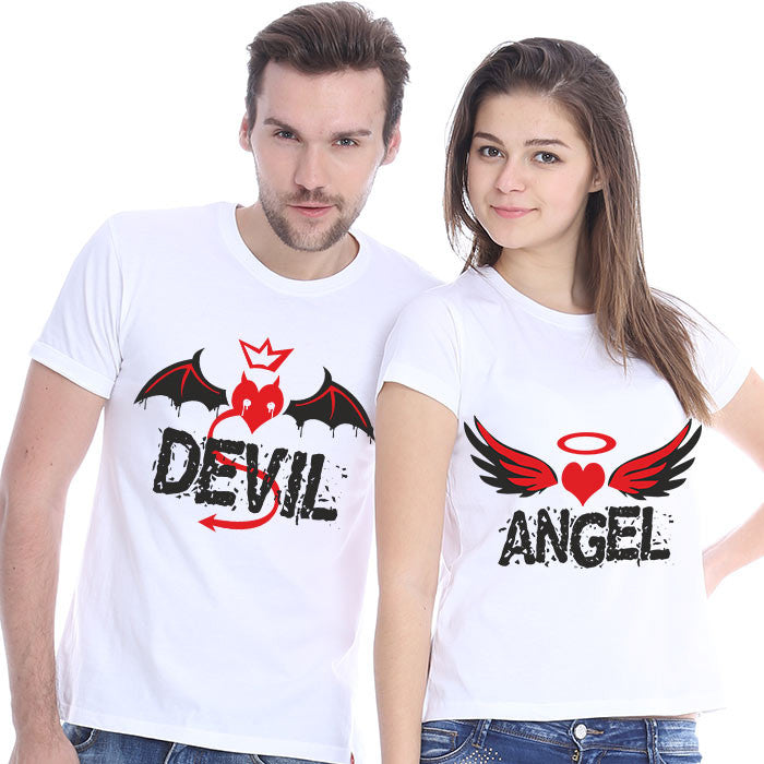 Checkkmate ANGEL & DEVIL Couple T-shirt