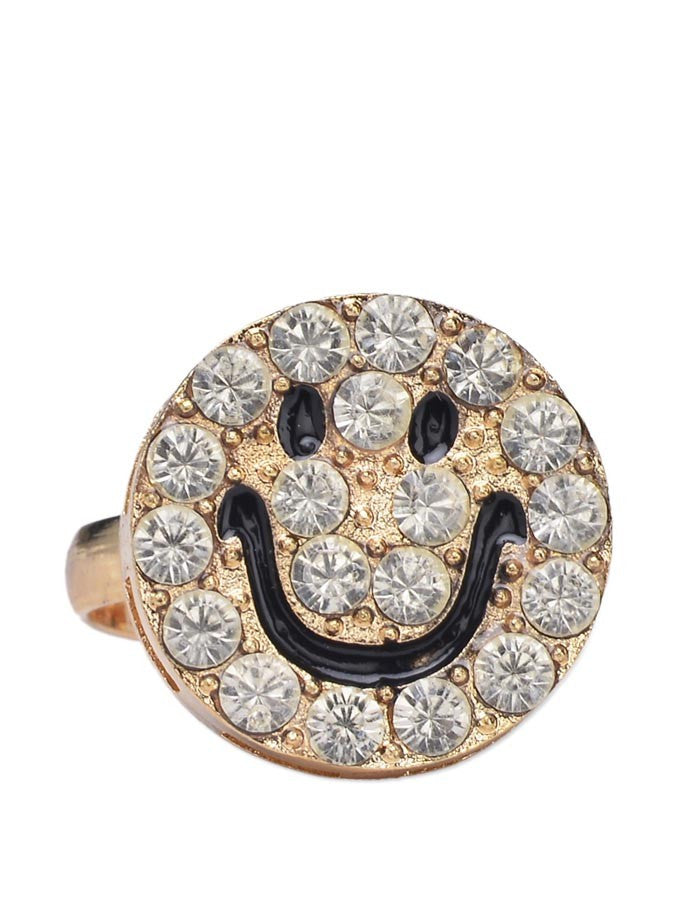 Fashion charming smiley finger ring