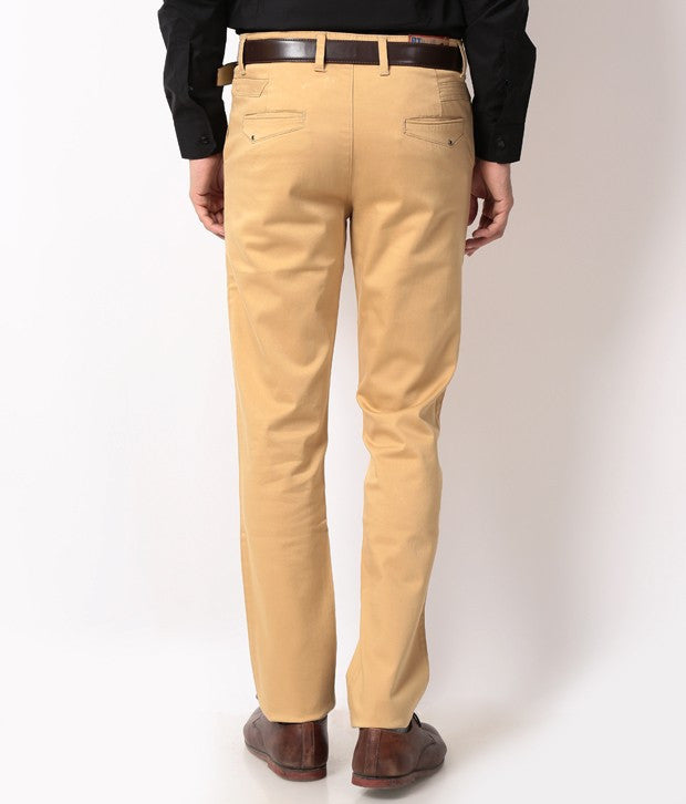 Boysstuff CORBIN Men's Cotton Beige Trousers