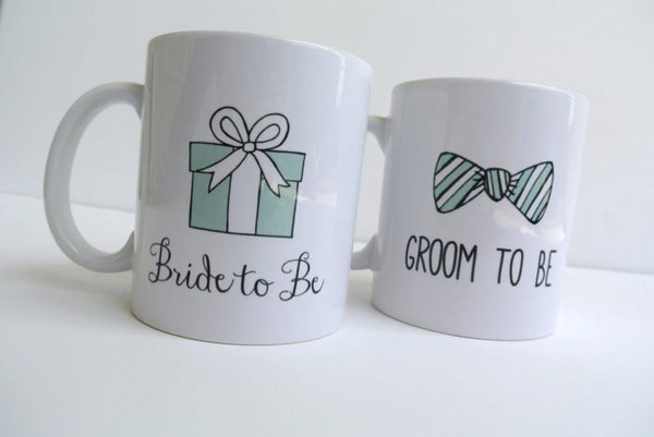 Chitchat Cafe Bride To B, Groom To Be ,Mugs