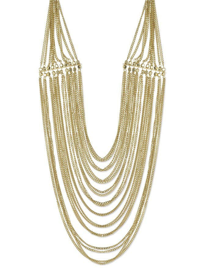 Ethnic Multi-Layered Golden Necklace