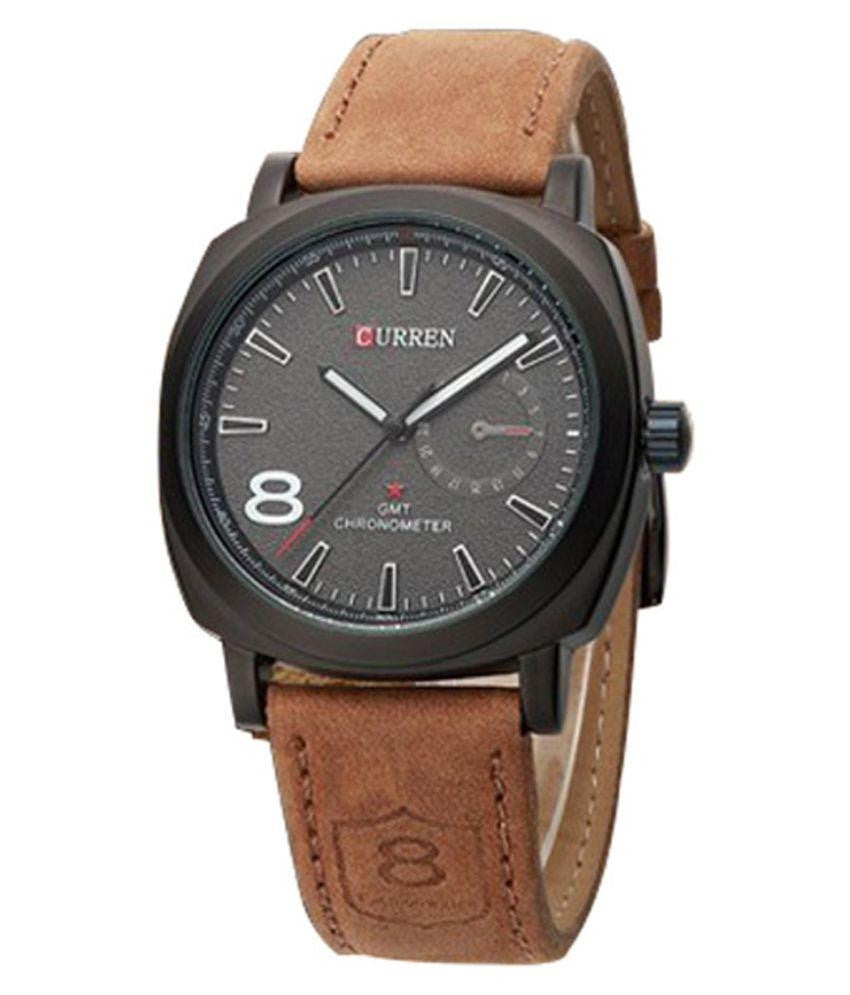 Curren Stylish Black Analog Watch for Men