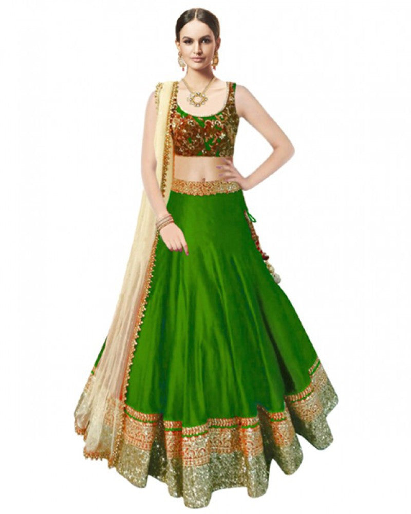 Axar fashion semistitched banglori silk lehenga choli(AR_beauty_parrot)